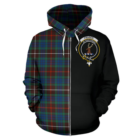Fraser Hunting Ancient Tartan Hoodie Half Of Me