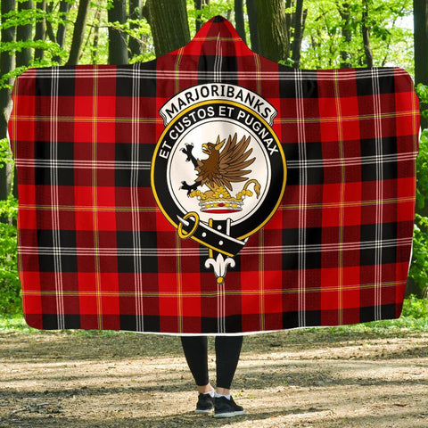 Image of Marjoribanks Clans Tartan Hooded Blanket