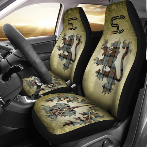 MacLeod of Harris Weathered Tartan Car Seat Cover Lion and Thistle Special Style