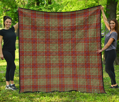 MacGillivray Hunting Ancient Tartan Premium Quilt | Scottishclans.co
