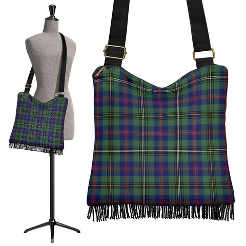 Wood Modern Tartan Boho Handbag | scottishclans.co