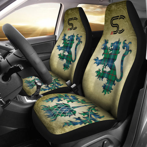 Urquhart Ancient Tartan Car Seat Cover Lion and Thistle Special Style