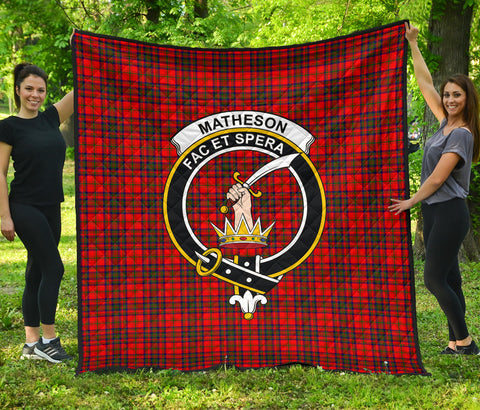 Matheson Modern Tartan Clan Badge Premium Quilt | Scottishclans.co