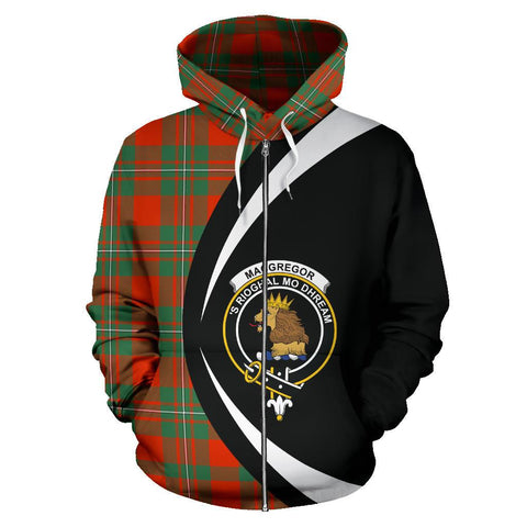 MacGregor Ancient Tartan Circle Zip Hoodie