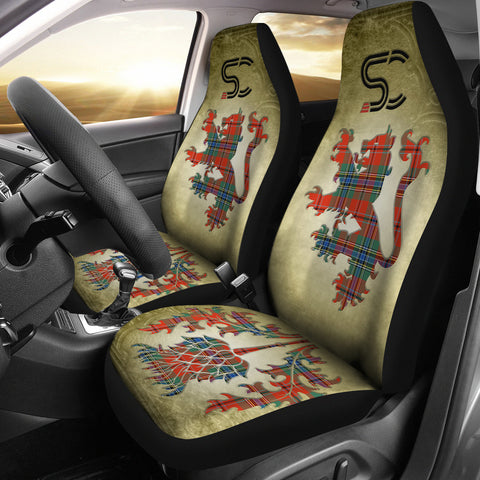 MacLean of Duart Ancient Tartan Car Seat Cover Lion and Thistle Special Style