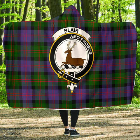 Blair Clans Tartan Hooded Blanket