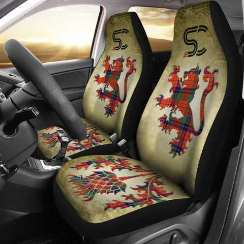 Nicolson Ancient Tartan Car Seat Cover Lion and Thistle Special Style