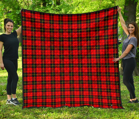 Wallace Hunting - Red Tartan Premium Quilt | Scottishclans.co