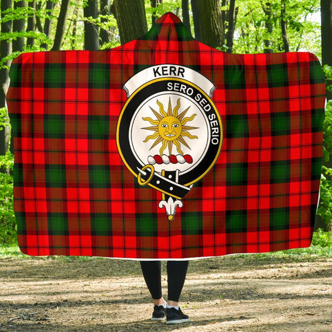 Image of Kerr Clans Tartan Hooded Blanket