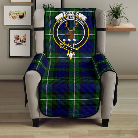 Image of Forbes Modern Tartan Clan Badge Sofa Protector