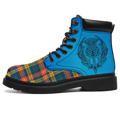 Buchanan Ancient Tartan All-Season Boots - Celtic Thistle | scottishclans.co