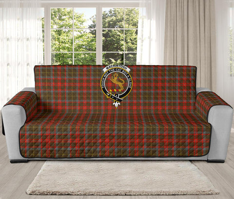 MacKintosh Hunting Weathered Tartan Clan Badge Oversized Sofa Protector