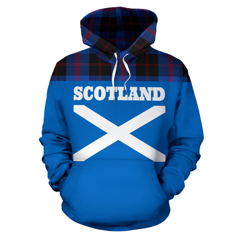 Image of Tartan All Over Hoodie - Lion Angus Modern - BN