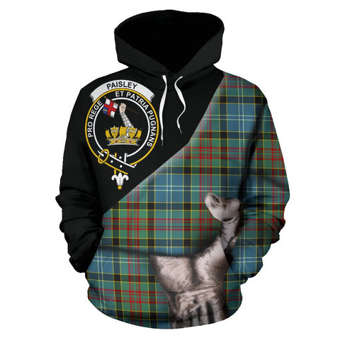 Paisley District Tartan Clan Crest Hoodie Patronage HJ4