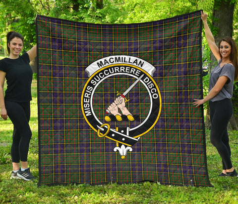 MacMillan Hunting Modern Tartan Clan Badge Premium Quilt | Scottishclans.co