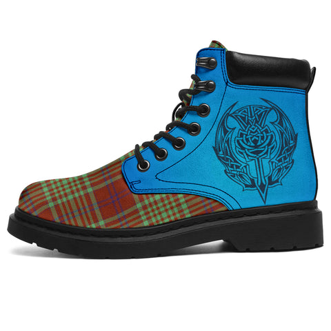Macgillivray Hunting Ancient Tartan All-Season Boots - Celtic Thistle | scottishclans.co