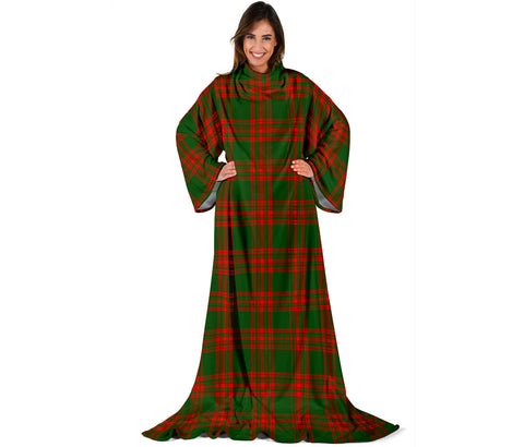 Menzies Green Modern Tartan Clans Sleeve Blanket | scottishclans.co