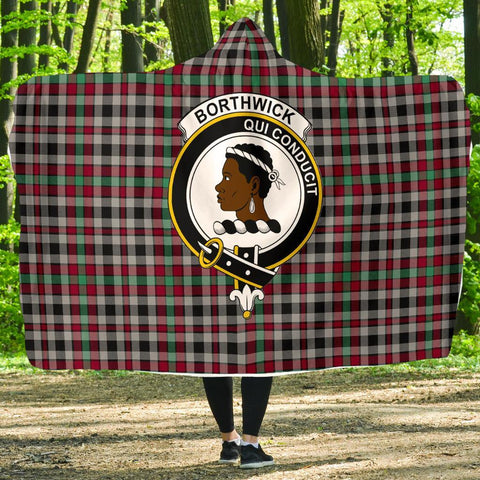 Image of Borthwick Clans Tartan Hooded Blanket