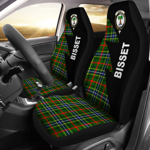 Bisset Clans Tartan Car Seat Covers - Flash Style