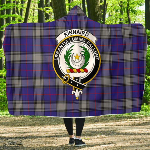 Image of Kinnaird Clans Tartan Hooded Blanket