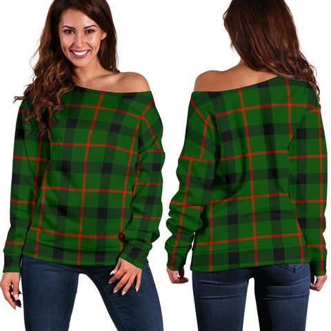 Tartan Womens Off Shoulder Sweater - Kincaid Modern