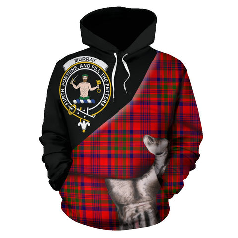 Murray of Tulloch Modern Tartan Clan Crest Hoodie Patronage HJ4