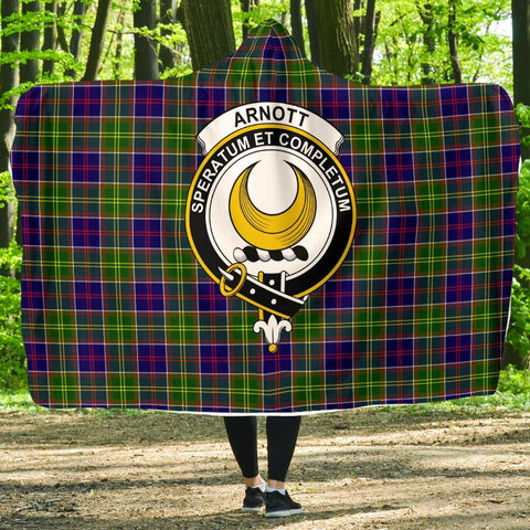 Image of Arnott Clans Tartan Hooded Blanket