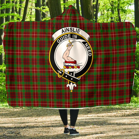 Image of Ainslie Clans Tartan Hooded Blanket