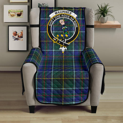 Image of MacInnes Modern Tartan Clan Badge Sofa Protector