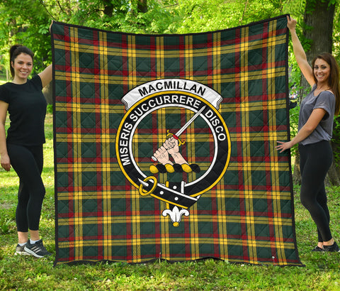 MacMillan Old Modern Tartan Clan Badge Premium Quilt | Scottishclans.co