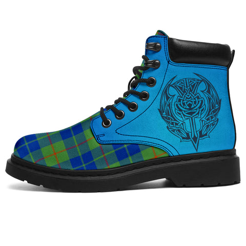 Barclay Hunting Ancient Tartan All-Season Boots - Celtic Thistle | scottishclans.co