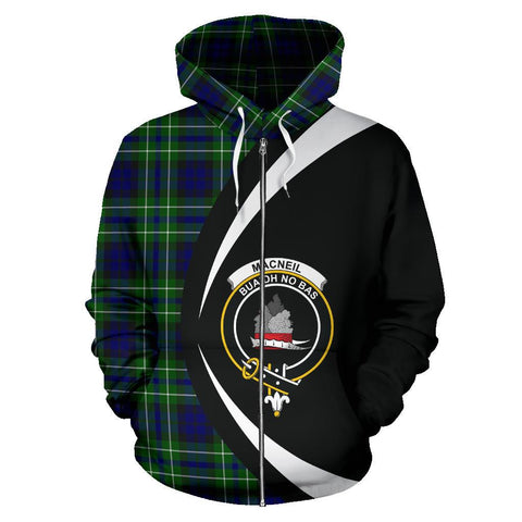MacNeil of Colonsay Modern Tartan Circle Zip Hoodie