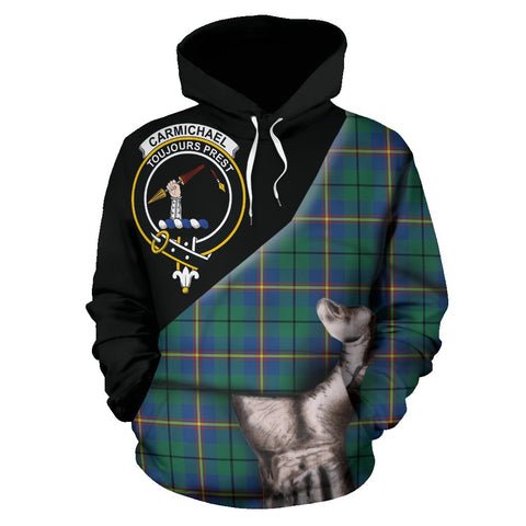Image of Carmichael Ancient Tartan Clan Crest Hoodie Patronage HJ4