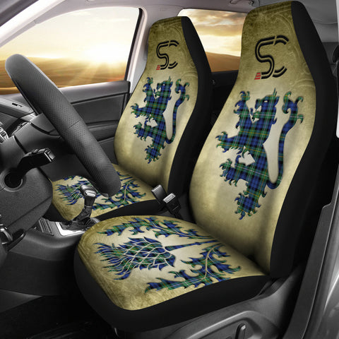 Campbell Argyll Ancient Tartan Car Seat Cover Lion and Thistle Special Style