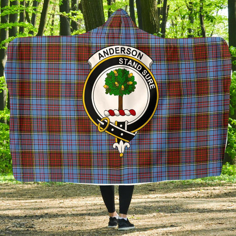 Image of Anderson Clans Tartan Hooded Blanket