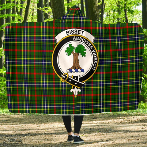 Image of Bisset Clans Tartan Hooded Blanket