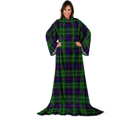 Leslie Hunting Tartan Clans Sleeve Blanket | scottishclans.co