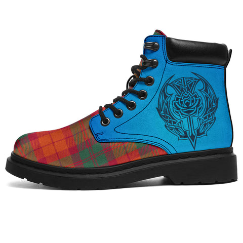 Macnab Ancient Tartan All-Season Boots - Celtic Thistle | scottishclans.co