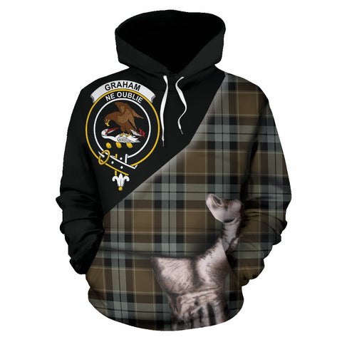 Graham of Menteith Weathered Tartan Clan Crest Hoodie Patronage HJ4