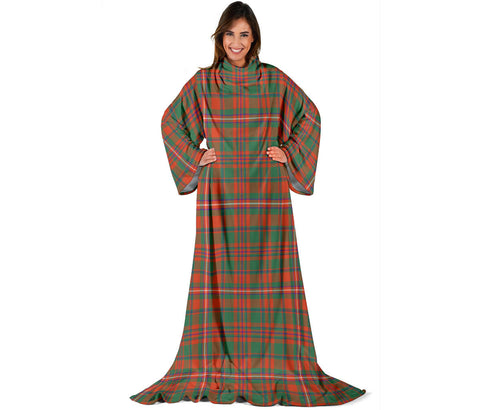 Image of MacKinnon Ancient Tartan Clans Sleeve Blanket | scottishclans.co