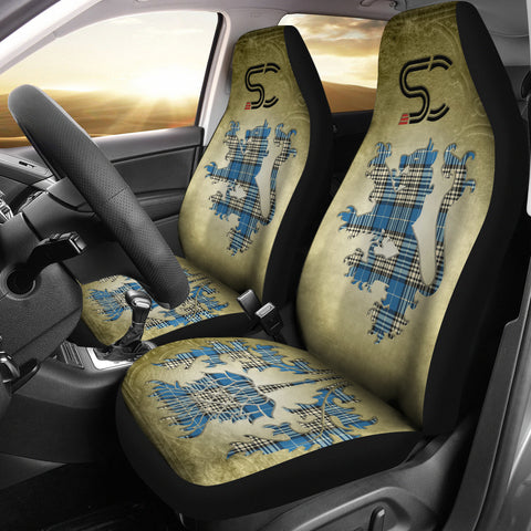 Napier Ancient Tartan Car Seat Cover Lion and Thistle Special Style