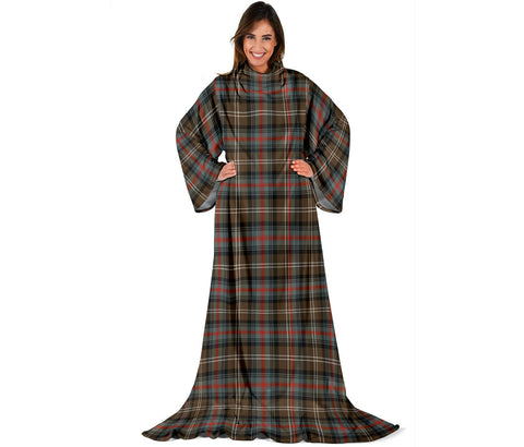 Sutherland Weathered Tartan Clans Sleeve Blanket | scottishclans.co