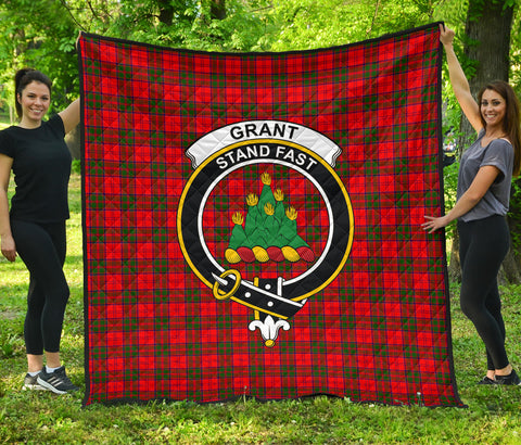 Image of Grant Modern Tartan Clan Badge Premium Quilt | Scottishclans.co