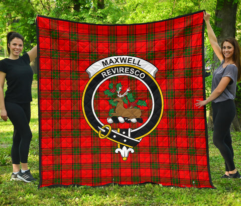 Maxwell Modern Tartan Clan Badge Premium Quilt | Scottishclans.co