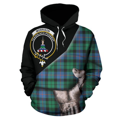 Image of Morrison Ancient Tartan Clan Crest Hoodie Patronage HJ4