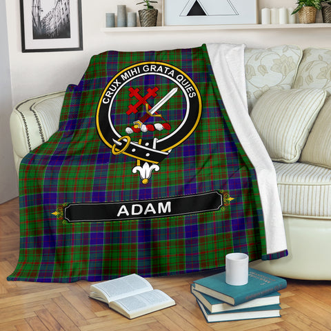 Adam Crest Tartan Blanket | Tartan Home Decor | Scottish Clan