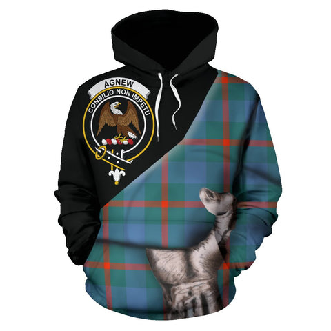 Agnew Ancient Tartan Clan Crest Hoodie Patronage HJ4