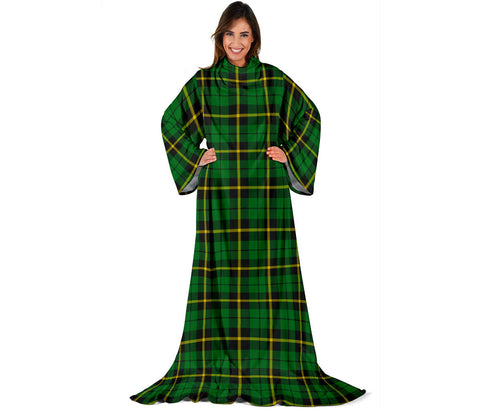 Wallace Hunting - Green Tartan Clans Sleeve Blanket | scottishclans.co