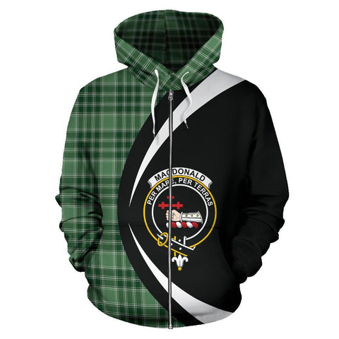 MacDonald Lord of the Isles Hunting Tartan Circle Zip Hoodie