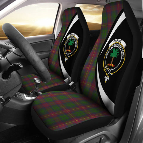 Cairns Tartan Clan Crest Car Seat Cover